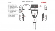 Honda Prelude 1997, 1998, 1999, 2000, 2001, Full Interior Kit, 13 Pcs.
