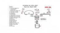 Hyundai XG 2001, 2002, 2003, 2004, 2005, Main Interior Kit, 22 Pcs., Match OEM