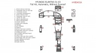 Hyundai Elantra 2001, 2002, 2003, Sedan, Full Interior Kit, Automatic, Without sunroof, 25 Pcs