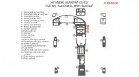 Hyundai Elantra 2001, 2002, 2003, Sedan, Full Interior Kit, Automatic, With sunroof, 23 Pcs