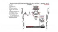 Hyundai Elantra Touring 2009, 2010, 2011, 2012, With Premium 6 Speaker Radio, Main Interior Kit, 28 Pcs.