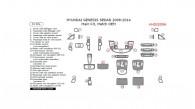 Hyundai Genesis 2009, 2010, 2011, 2012, 2013, 2014, Sedan, Main Interior Kit, 31 Pcs., Match OEM