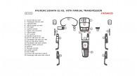 Hyundai Sonata 2002, 2003, 2004, 2005, Interior Dash Kit, Manual, 21 Pcs.