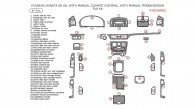 Hyundai Sonata 2006, 2007, 2008, With Manual Climate Control, With Manual Transmission, Full Interior Kit, 47 Pcs.