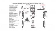 Hyundai Santa Fe 2001-2002, Full Interior Kit, With Manual Climate Control, 29 Pcs.