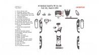 Hyundai Santa Fe 2001, 2002, 2003, 2004, Full Interior Kit, 27 Pcs., Match OEM
