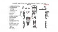 Hyundai Santa Fe 2002.5, 2003, 2004, Full Interior Kit, With Manual Climate Control, 30 Pcs.