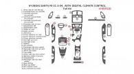 Hyundai Santa Fe 2002.5, 2003, 2004, Full Interior Kit, With Digital Climate Control, 31 Pcs.