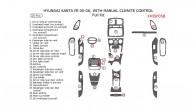 Hyundai Santa Fe 2005-2006, Full Interior Kit, With Manual Climate Control, 28 Pcs.