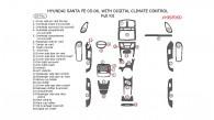 Hyundai Santa Fe 2005-2006, Full Interior Kit, With Digital Climate Control, 29 Pcs.