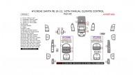 Hyundai Santa Fe 2010, 2011, 2012, With Manual Climate Control, Basic Interior Kit, 25 Pcs.