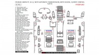 Hyundai Santa Fe 2010, 2011, 2012, With Automatic Transmission, With Digital Climate Control, Full Interior Kit, 51 Pcs.