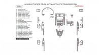 Hyundai Tucson 2005, 2006, 2007, 2008, 2009, Interior Dash Kit, With Automatic Transmission, 24 Pcs.
