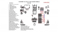 Hummer H2 2005, 2006, 2007, Full Interior Kit, W/o Door Panels, 52 Pcs.