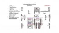Hummer H3 2006, 2007, 2008, 2009, 2010, Basic Interior Kit, 21 Pcs.