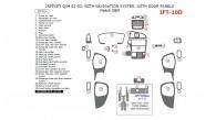 Infiniti QX4 2002-2003, Interior Dash Kit, With Navigation System, With Door Panels, 28 Pcs., Match OEM