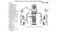 Infiniti FX 2003, 2004, 2005, With Center Console Interior Kit, 31 Pcs.