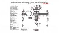 Infiniti G35 2004, Sedan, Full Interior Kit, Manual, With or W/o Navigation System, 47 Pcs.