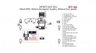 Infiniti QX4 2001, Interior Dash Kit, Without Navigation System, Without Door Panels , 22 Pcs., Match OEM