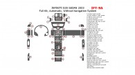 Infiniti G35 2003, Sedan, Full Interior Kit, Automatic, Without Navigation System, 45 Pcs.