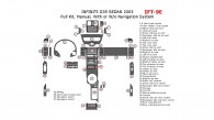 Infiniti G35 2003, Sedan, Full Interior Kit, Manual, With or W/o Navigation System, 47 Pcs.