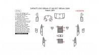 Infiniti G35 (2007-2008) / G37 (2009), Interior Dash Kit, Sedan, Match OEM Kit, 25 Pcs.
