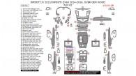 Infiniti JX 2013/Infiniti QX60 2014, 2015, 2016, Over OEM Wood, Full Interior Kit, 64 Pcs.