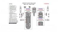 Infiniti QX56 2004, 2005, 2006, 2007, Basic Interior Kit, 25 Pcs., Match OEM