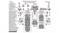 Infiniti QX56 2004, 2005, 2006, 2007, Full Interior Kit, 61 Pcs., Match OEM