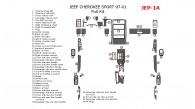 Jeep Cherokee Sport 1997, 1998, 1999, 2000, 2001, Full Interior Kit, 44 Pcs.