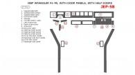 Jeep Wrangler 1991, 1992, 1993, 1994, 1995, Interior Dash Kit, With Door Panels, With Half Doors, 17 Pcs.