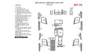 Jeep Grand Cherokee 1996, 1997, 1998, Full Interior Kit, 28 Pcs.