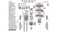 Jeep Grand Cherokee 2008, 2009, 2010, Full Interior Kit, 78 Pcs., Match OEM