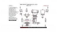 Jeep Grand Cherokee 2011, 2012, 2013, Basic Interior Kit, 36 Pcs.