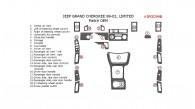 Jeep Grand Cherokee 1999, 2000, 2001, 2002, Interior Dash Kit, Limited, 22 Pcs., Match OEM