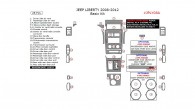 Jeep Liberty 2008, 2009, 2010, 2011, 2012, Basic Interior Kit, 28 Pcs.