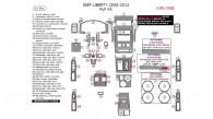 Jeep Liberty 2008, 2009, 2010, 2011, 2012, Full Interior Kit, 63 Pcs.