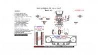 Jeep Wrangler 2011, 2012, 2013, 2014, 2015, 2016, 2017, Basic Interior Kit, 36 Pcs.