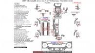 Jeep Wrangler 2011, 2012, 2013, 2014, 2015, 2016, 2017, With Manual Transmission, Full Interior Kit, 67 Pcs.