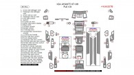 Kia Amanti 2007, 2008, 2009, Full Interior Kit, 45 Pcs.