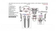 Kia Forte Koup 2010, 2011, 2012, 2013, Interior Dash Kit, With Manual Climate Control, Interior Dash Kit, With Manual Transmission, 35 Pcs.