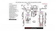 Kia Optima 2011, 2012, 2013, With Navigation System, Main Interior Kit, 34 Pcs.