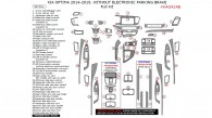 Kia Optima 2014-2015, Without Electronic Parking Brake, Full Interior Kit, 50 Pcs.