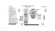 Kia Sedona 2006, 2007, 2008, 2009, 2010, 2011, 2012, 2013, 2014, Basic Interior Kit, 34 Pcs.