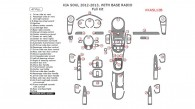 Kia Soul 2012-2013, With Base Radio, Full Interior Kit, 47 Pcs.