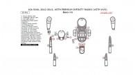Kia Soul 2012-2013, With Premium Infinity Radio (With UVO), Basic Interior Kit, 29 Pcs.