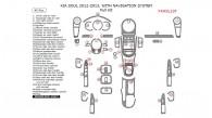 Kia Soul 2012-2013, With Navigation System, Full Interior Kit, 45 Pcs.