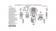 Kia Sorento 2011, 2012, 2013, With Digital Climate Control, Main Interior Kit, 37 Pcs.
