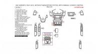 Kia Sorento 2014-2015, Without Navigation System, With Manual Climate Control, Main Interior Kit, 22 Pcs.