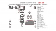 Lincoln Navigator 2000, 2001, 2002, Full Interior Kit, Without Navigation System, With Sunroof, Without Rear Captains Chairs 39 Pcs., Match OEM
